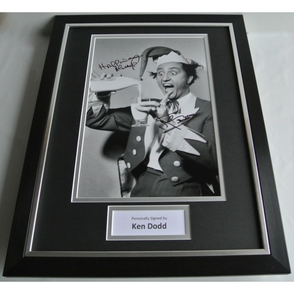 Ken Dodd SIGNED FRAMED Photo Autograph 16x12 display TV Special Inscription AFTAL & COA Memorabilia PERFECT GIFT