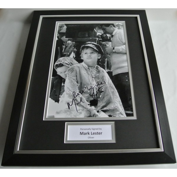 Mark Lester SIGNED FRAMED Photo Autograph 16x12 display Oliver Film Musical COA AFTAL TV FILM Memorabilia PERFECT GIFT