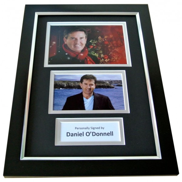 DANIEL O'DONNELL Signed A4 FRAMED Photo Autograph Display Ireland Music COA PERFECT GIFT