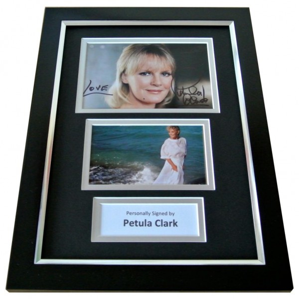 PETULA CLARK Signed A4 FRAMED Photo Autograph Display Down Town 60's Music COA PERFECT GIFT