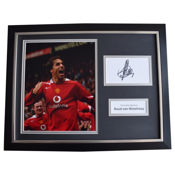 5cdd8225b Ruud Van Nistelrooy Signed FRAMED Photo Autograph 16x12 display Manchester  Utd AFTAL COA Memorabilia PERFECT GIFT