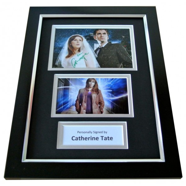 CATHERINE TATE Signed A4 FRAMED Photo Autograph Display DOCTOR WHO TV & COA PERFECT GIFT