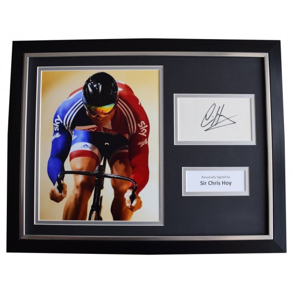 Chris Hoy Signed FRAMED Photo Autograph 16x12 display Olympic Cycling Sport  AFTAL  COA Memorabilia PERFECT GIFT