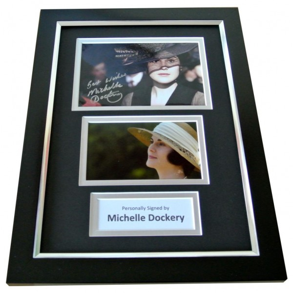 MICHELLE DOCKERY Signed A4 FRAMED Photo Autograph Display DOWNTON ABBEY TV & COA PERFECT GIFT