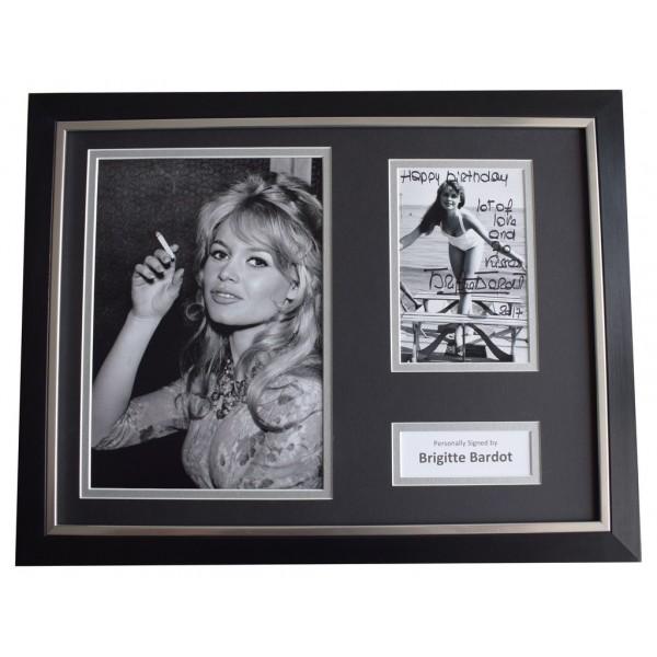 Brigitte Bardot Signed FRAMED Photo Autograph 16x12 display Film Happy Birthday AFTAL  COA Memorabilia PERFECT GIFT