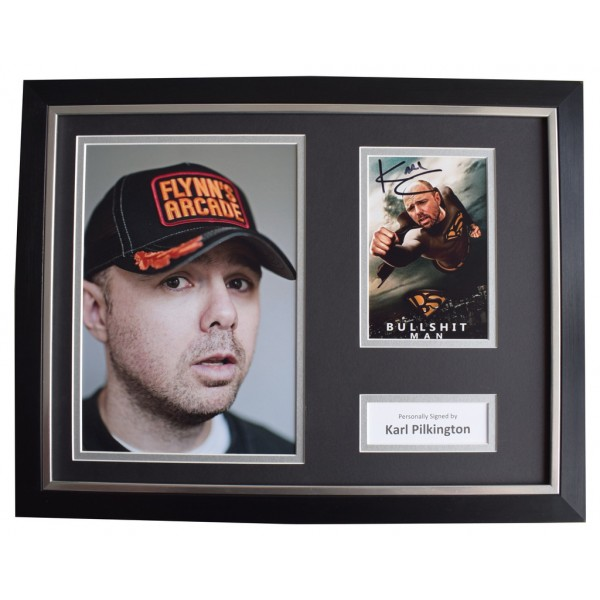 Karl Pilkington Signed FRAMED Photo Autograph 16x12 display TV Idiot Abroad  AFTAL  COA Memorabilia PERFECT GIFT