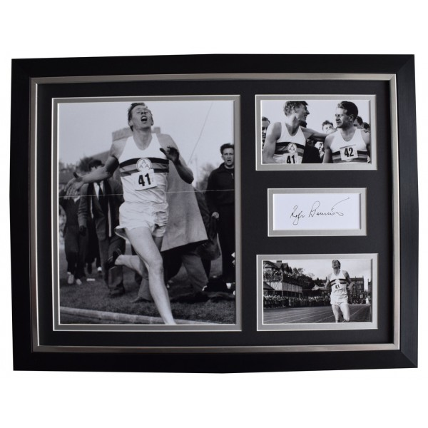 Roger Bannister Signed FRAMED Photo Autograph 16x12 display 4 Minute Mile  AFTAL  COA Memorabilia PERFECT GIFT