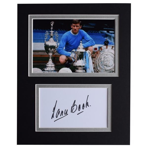 Tony Book Signed Autograph 10x8 photo display Manchester City Football AFTAL  COA Memorabilia PERFECT GIFT