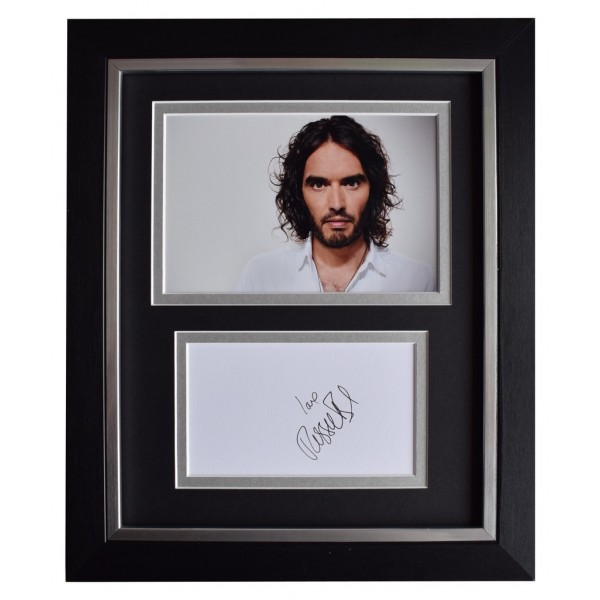 Russell Brand SIGNED 10x8 FRAMED Photo Autograph Display TV Comedy AFTAL  COA Memorabilia PERFECT GIFT