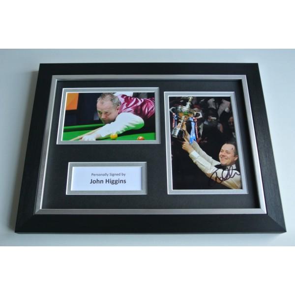 John Higgins Signed A4 FRAMED photo Autograph display Snooker Sport AFTAL & COA Memorabilia PERFECT GIFT