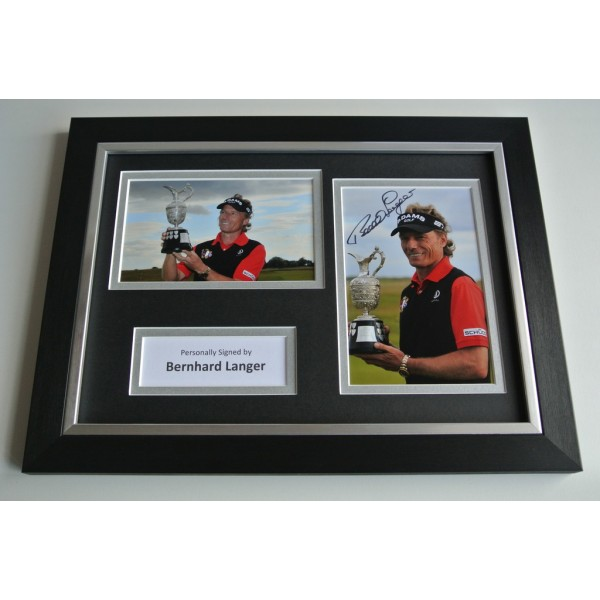 Bernhard Langer Signed A4 FRAMED photo Autograph display Golf Sport AFTAL & COA Memorabilia PERFECT GIFT