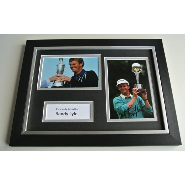 Sandy Lyle Signed A4 FRAMED photo Autograph display Golf  AFTAL & COA SPORT Memorabilia PERFECT GIFT
