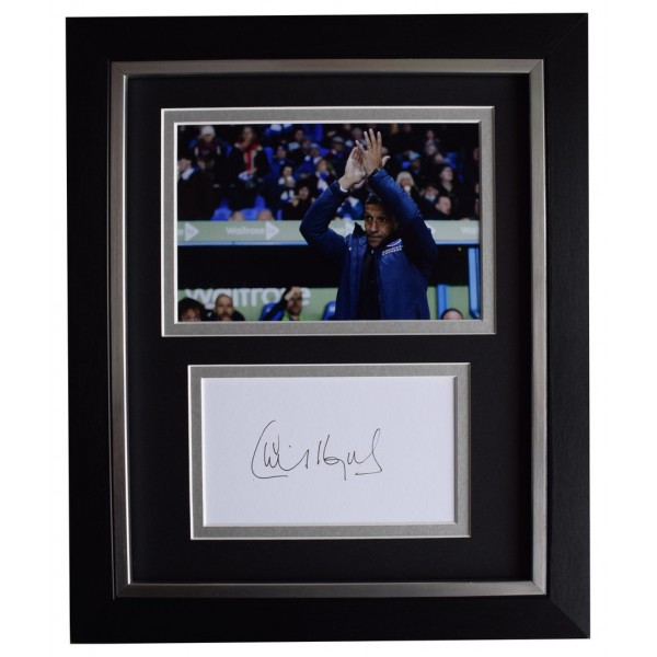 Chris Hughton SIGNED 10x8 FRAMED Photo Autograph Display Brighton & Hove Albion AFTAL  COA Memorabilia PERFECT GIFT