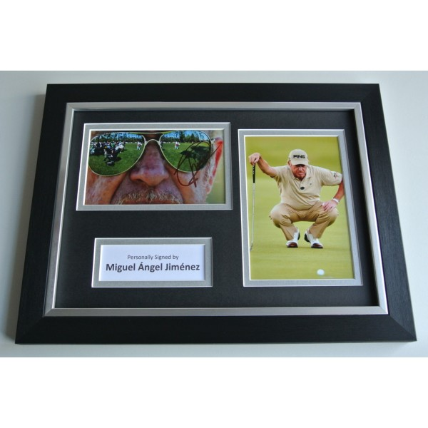 Miguel Angel Jimenez Signed A4 FRAMED photo Autograph display Golf  AFTAL & COA SPORT Memorabilia PERFECT GIFT