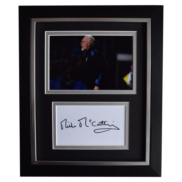 Mick McCarthy SIGNED 10x8 FRAMED Photo Autograph Display Ipswich Town  AFTAL  COA Memorabilia PERFECT GIFT