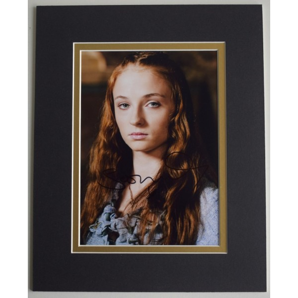 Sophie Turner Signed Autograph 10x8 photo display TV Game of Thrones Memorabilia  AFTAL & COA PERFECT GIFT