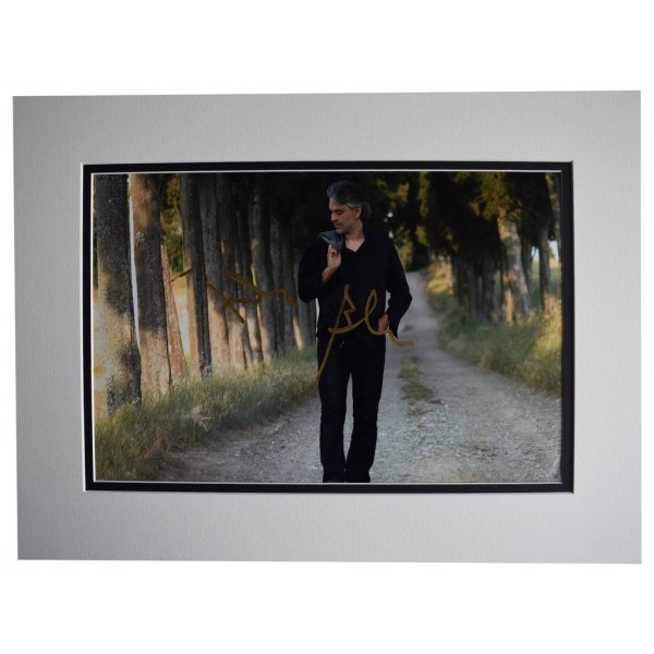 Andrea Bocelli SIGNED autograph 16x12 photo display Classical Music  AFTAL  COA Memorabilia PERFECT GIFT
