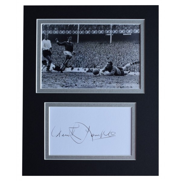 Derek Temple Signed Autograph 10x8 photo display Everton Football AFTAL  COA Memorabilia PERFECT GIFT