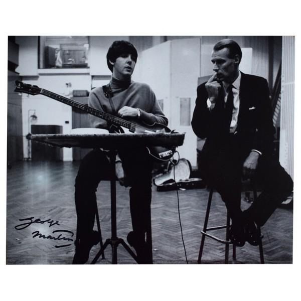 George Martin SIGNED 10x8 Photo Autograph Beatles Music  AFTAL  COA Memorabilia PERFECT GIFT
