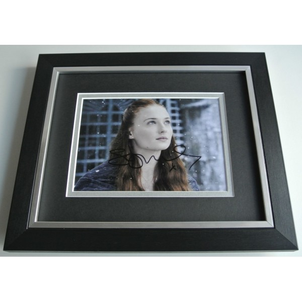 Sophie Turner SIGNED 10X8 FRAMED Photo Autograph Display TV Game of Thrones AFTAL & COA  FILM Memorabilia PERFECT GIFT
