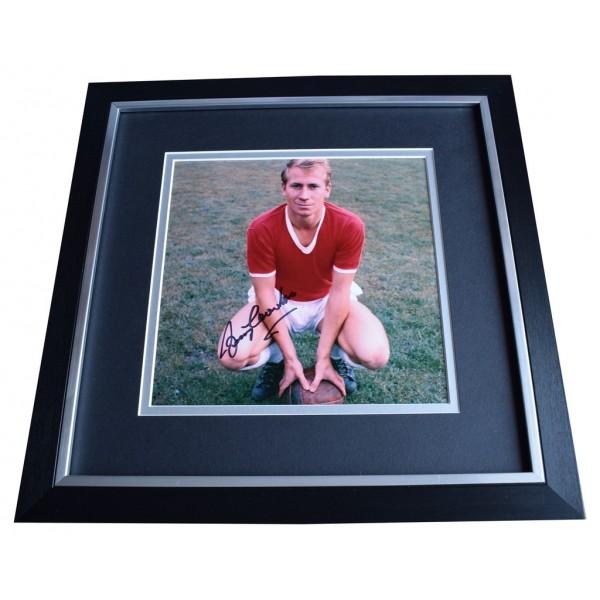 Bobby Charlton SIGNED Framed LARGE Square Photo Autograph Manchester United  AFTAL  COA Memorabilia PERFECT GIFT