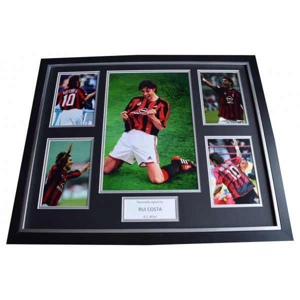 Rui Costa SIGNED Framed Photo Autograph Huge display AC Milan Football   AFTAL  COA Memorabilia PERFECT GIFT