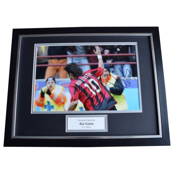 Rui Costa Signed FRAMED Photo Autograph 16x12 display A.C. Milan Football  AFTAL  COA Memorabilia PERFECT GIFT