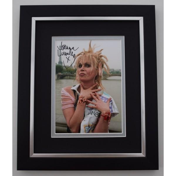 Joanna Lumley SIGNED 10X8 FRAMED Photo Autograph Display TV Ab Fab      Memorabilia  AFTAL & COA perfect gift