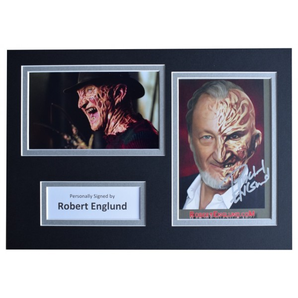 Robert Englund Signed Autograph A4 photo mount display Nightmare on Elm Street  AFTAL  COA Memorabilia PERFECT GIFT
