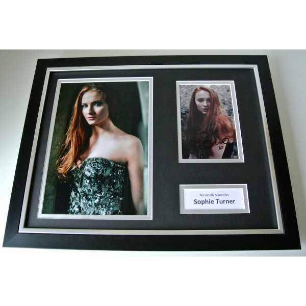Sophie Turner SIGNED FRAMED Photo Autograph 16x12 display Game Of Thrones TV COA Perfect Gift