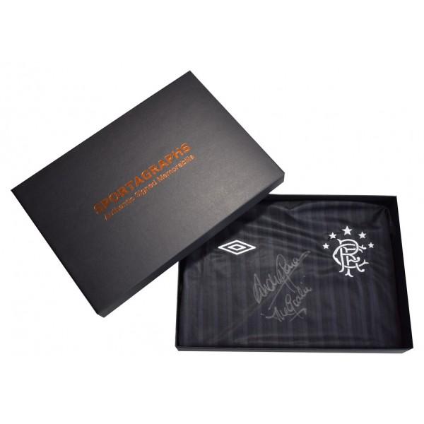 Andy Goram Signed Shirt Autograph Rangers New Inscription COA PROOF Gift Box AFTAL &  COA Memorabilia