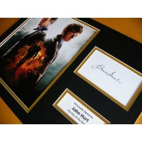 JOHN HURT HAND SIGNED AUTOGRAPH 16x12 PHOTO MOUNT DAY OF THE DOCTOR WHO & COA