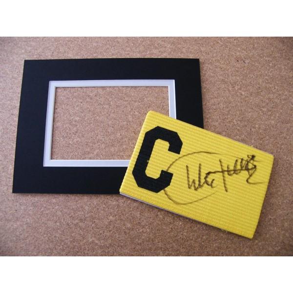 CHARLIE GEORGE HAND SIGNED CAPTAINS ARMBAND & free mount display ARSENAL & COA