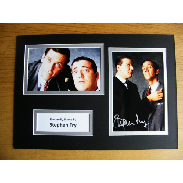 STEPHEN FRY HAND SIGNED AUTOGRAPH A4 PHOTO DISPLAY & COA JEEVES & WOOSTER GIFT