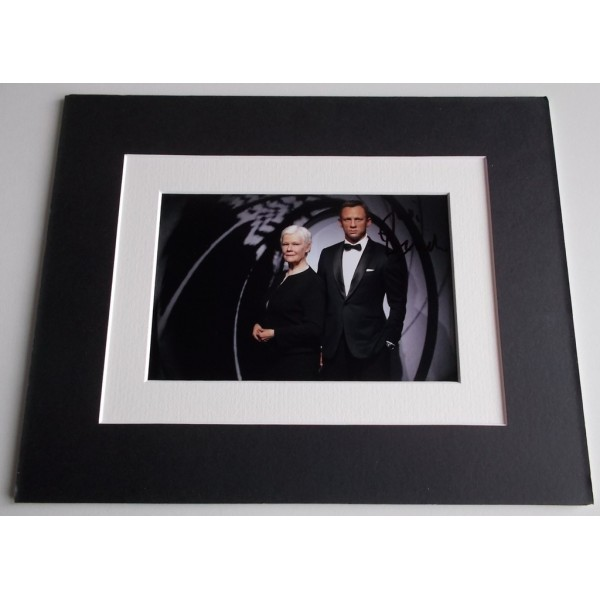 Judi Dench Signed Autograph 10x8 photo mount display James Bond Film  AFTAL & COA Memorabilia PERFECT GIFT