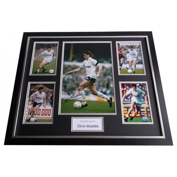 Chris Waddle SIGNED FRAMED Photo Autograph Huge display Spurs Football AFTAL & COA Memorabilia PERFECT GIFT