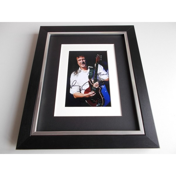 Brian May SIGNED 10x8 FRAMED Photo Autograph Display Queen Music AFTAL & COA Memorabilia PERFECT GIFT