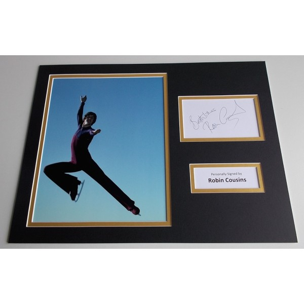 Robin Cousins SIGNED autograph 16x12 photo display Ice Skating Sport AFTAL & COA Memorabilia PERFECT GIFT