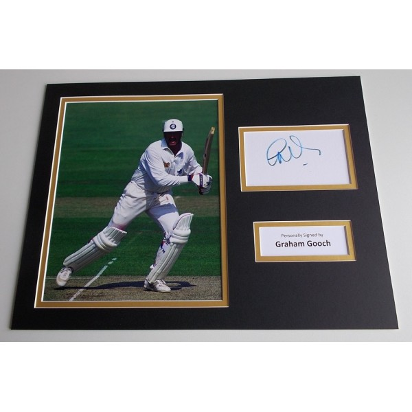 Graham Gooch SIGNED autograph 16x12 photo display England Cricket AFTAL & COA Memorabilia PERFECT GIFT