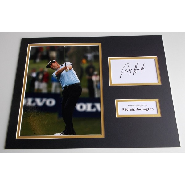 Padraig Harrington SIGNED autograph 16x12 photo mount display Golf   AFTAL & COA Memorabilia PERFECT GIFT