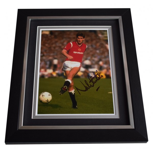 Norman Whiteside SIGNED 10x8 FRAMED Photo Autograph Display Manchester United AFTAL  COA Memorabilia PERFECT GIFT