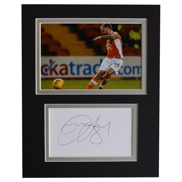 Jay Spearing Signed Autograph 10x8 photo display Blackpool Football AFTAL COA Perfect Gift Memorabilia