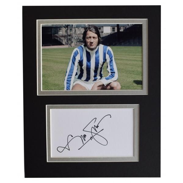 Frank Worthington Signed Autograph 10x8 photo display Huddersfield Football COA Perfect Gift Memorabilia