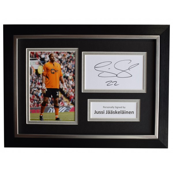 Jussi Jaaskelainen Signed A4 Framed Autograph Photo Display Bolton Wanderers COA Perfect Gift Memorabilia