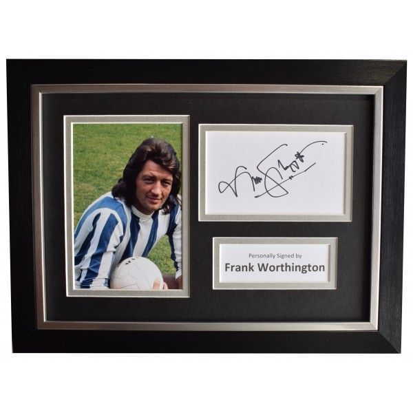 Frank Worthington Signed A4 Framed Autograph Photo Display Huddersfield COA Perfect Gift Memorabilia