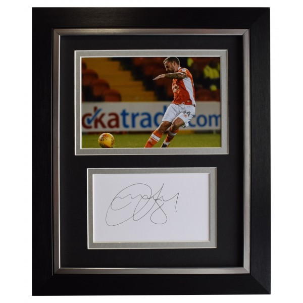 Jay Spearing Signed 10x8 Framed Autograph Photo Display Blackpool Football COA  Perfect Gift Memorabilia