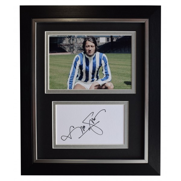 Frank Worthington Signed 10x8 Framed Autograph Photo Display Huddersfield COA Perfect Gift Memorabilia