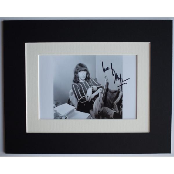 Bill Wyman Signed Autograph 10x8 photo display Rolling Stones music AFTAL COA Perfect Gift Memorabilia