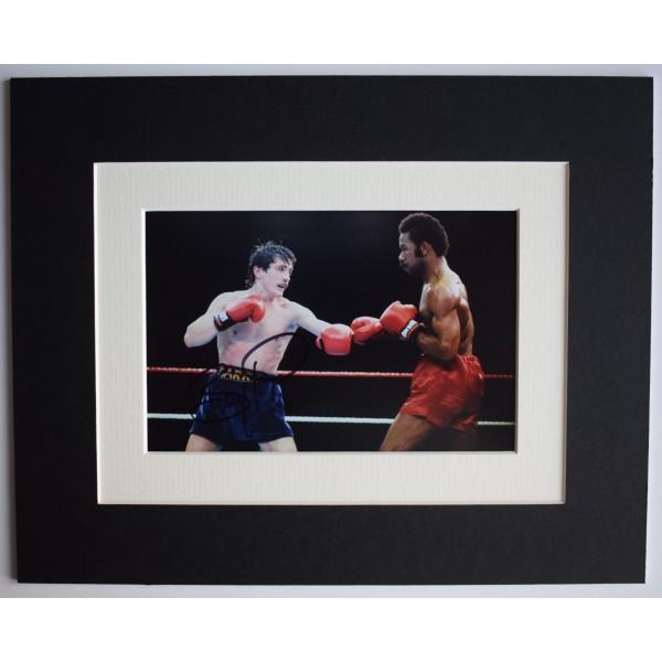 Barry McGuigan Signed Autograph 10x8 photo mount display Boxing Sport AFTAL COA Perfect Gift Memorabilia