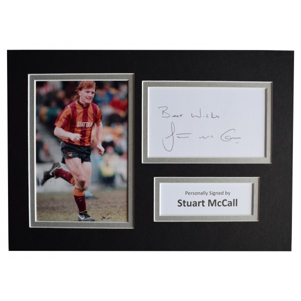 Stuart McCall Signed Autograph A4 photo display Bradford City football COA Perfect Gift Memorabilia